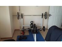 Olympic wide bench weight set