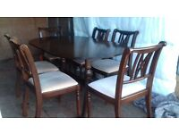 sideboard and dinning table set