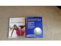 Gym ball and book