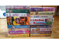 Selection of VHS tapes (mostly children's)