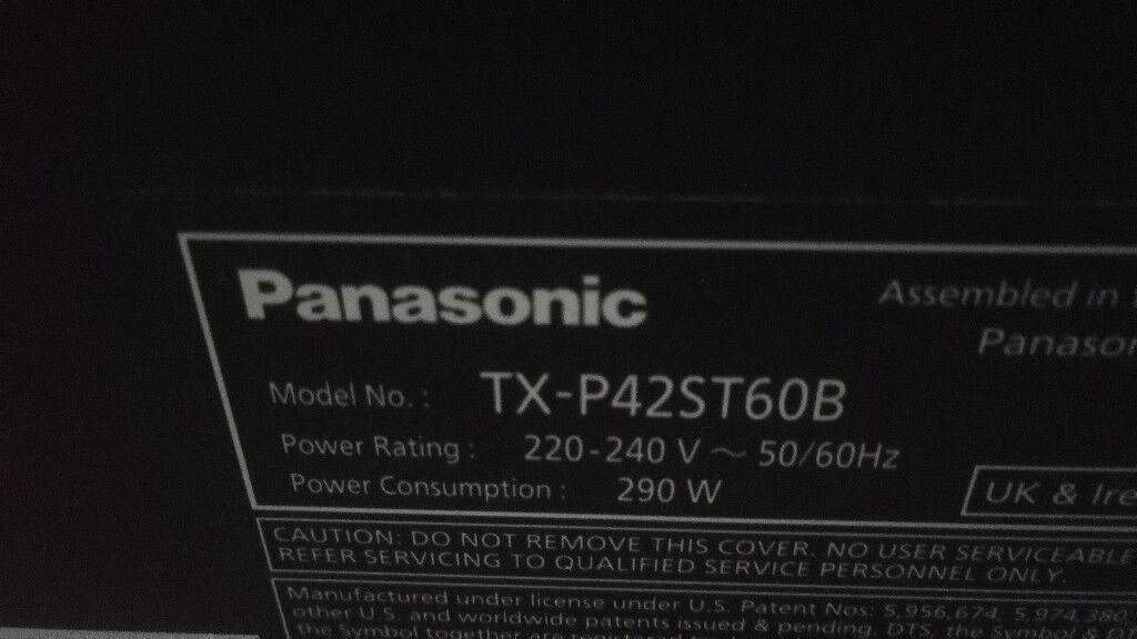 "TX-P42ST60B 42"" Smart VIERA Plasma TV"