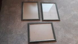 3 GREEN PHOTO/PICTURE FRAMES