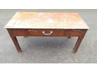 Vintage Antique Victorian Farmhouse Table Scrub top Rustic Dining Table