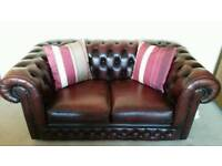 Leather 2 seater Chesterfield