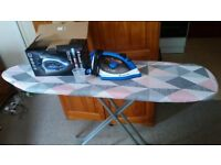 New Iron 2400W, ceramic soleplate + Ironing board, Urgent