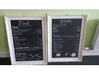 Chaulk menu boards