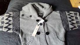 Ladies River Island wool cardigan size 10 grey £20