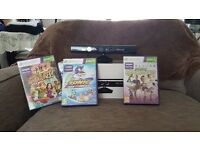 Xbox Kinect with Games (Sonic Free Riders, Kinect Adventures, Kinect Sport)