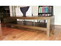 Dark wood effect tv unit / bench