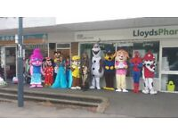 MASCOT COSTUMES FROM £20 FOR 24 HOURS IN DERBY
