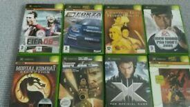 Xbox games Forza Halo2 Mortal Combat Xmen etc...