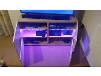 Light oak coloured TV Stand with LED Lighting