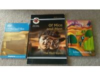 Of Mice and Men Hardback Book + 2 GCSE Revision Guides - EXCELLENT CONDITION