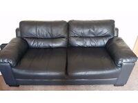 Leather 2&3 seater sofa