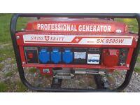 2 generators; 1 nearly new a swisskraft, £160 ono 2. a honda 5 kva light use VGC, £325 ono