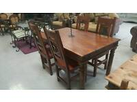 Solid mango pine dinning table & 4 chairs can deliver 07808222995