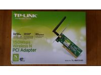 TP Link PCI WiFi card for Windows 7 PCs (wi fi, model TL-WN751ND) - excellent condition