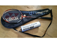 Yonex MP28- Racquet, bag and shuttlecocks