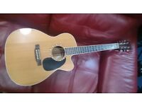 Martin JC-16RGTE Electro Acoustic Guitar with hard case. NEW PRICE.