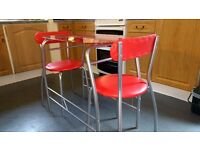 Kitchen small table with two chairs