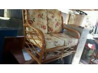 Cane Conservatory or Garden Sofa Chair