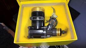 Vintage HP 61 Goldcup r/c model aero engine as new