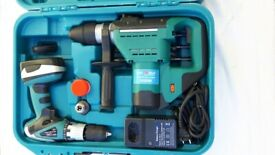 Cordless impact drill and a hammer drill set