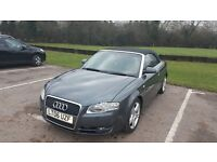 """Audi a4 sport fsi convertible .Great condition Low mileage 60000 miles m.o.t New 10"""" screen stereo"""