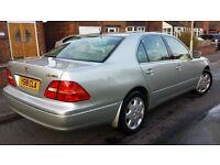 2001 LEXUS LS430 PREMIUM PACK, FSH, MOT JULY, P/EX, HPI CLR, UK DEL,FINE LOOKS+DRIVE+MECHANICS £1250