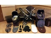 iCandy Peach Double Pushchair Stroller - Maxi Cosi Pebble Car Seat - All Adaptors And More