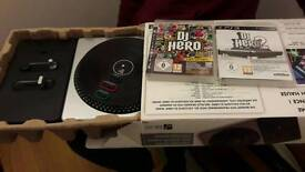 PS3 DJ Hero 1&2 with turntable