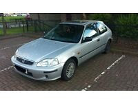 SPARES OR REPAIRS Honda Civic 1.4i Tropica, 2000 model