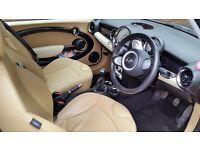 Mini Cooper Diesel 2009 Black metallic Mood lighting Chili pack leather seats new MOT 48k miles