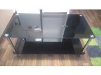 Glass black coffee table