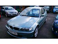 2002 BMW 320I SE 4 DOOR SALOON LIGHT MET GREEN AUG 2017 MOT 116K F/S/HISTORY ALLOYS CD E/W E/M R/C/L