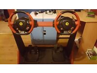 2 XBOX 1 steering wheels, stand & Forza 6 game