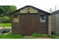 10x10 wooden shed