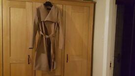 Women's belted camel coat