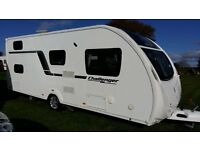 SWIFT CHALLENGER GTS 585, 6 Berth, (2013) – Touring Caravan. Complete with a motor mover.
