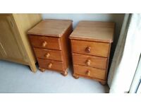 Pine Bedside Drawers - ideal for restoring - collection only