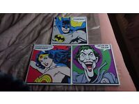 "3 12"" x 12"" DC Comics canvas wall art"