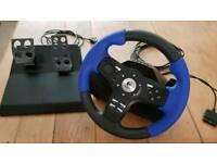 Logitech Driving Force EX PS2 / USB steering wheel