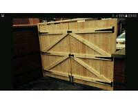Garden timber gates making handmade to any size.