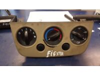 2006 FORD FIESTA HEATER CONTROL SWITCH PANEL NON AIR CON PART NUMBER 2S6H18549BG