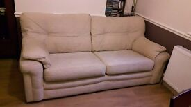 2 G plan sofas with footstool