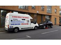 24hour mobile tyre fitter fitting services 24 hour 24hr flat puncture emergency service car