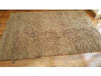 Carpet rug - pure lambs wool, luxury, extra large size - brown shaggy rug. Brought from Dunelm