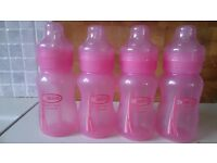 Set of 4 Dr Brown's Pink Bottles