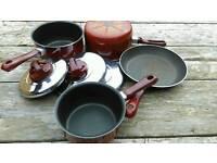 Set of 5 Tefal pans