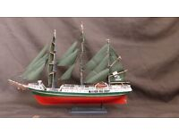 Alexander Von Humbolt Sailing Ship Model - fully built from Revell Kit 1/150